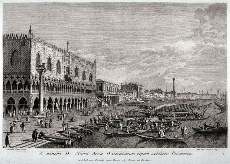 View of the Bank Facing the Ducal Palace