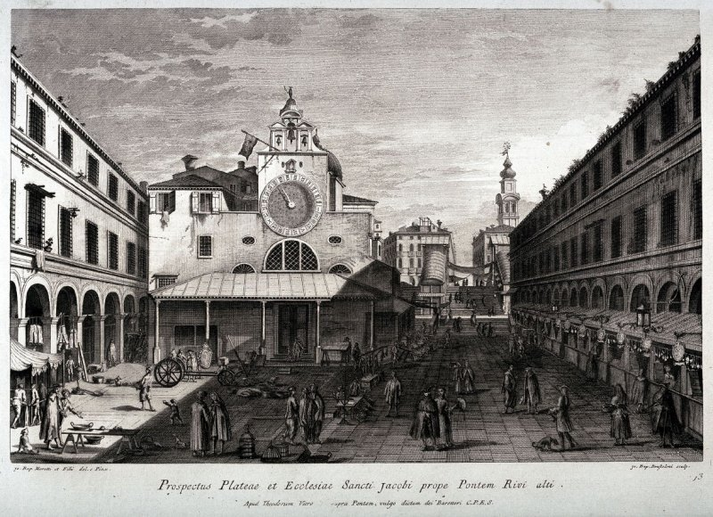 The Piazza and Church of S. Giacomo in Rialto