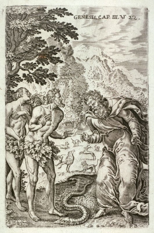 Adam and Eve, one of eight scenes from the Bible