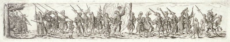 Marching Soldiers, in the Center a Standard-Bearer