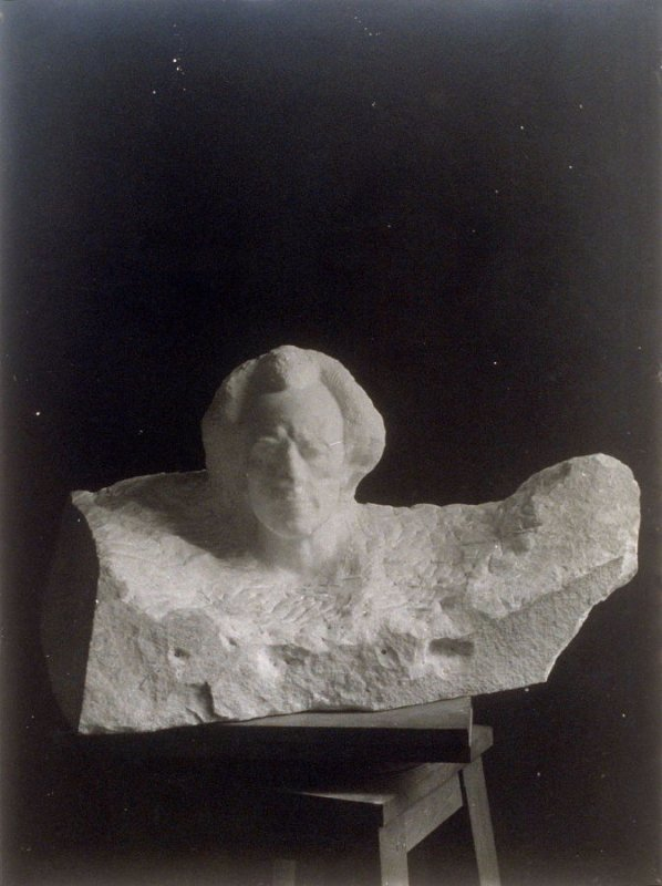Portrait Marble Bust of Gustave Mahler (popularly known as a bust of Mozart)