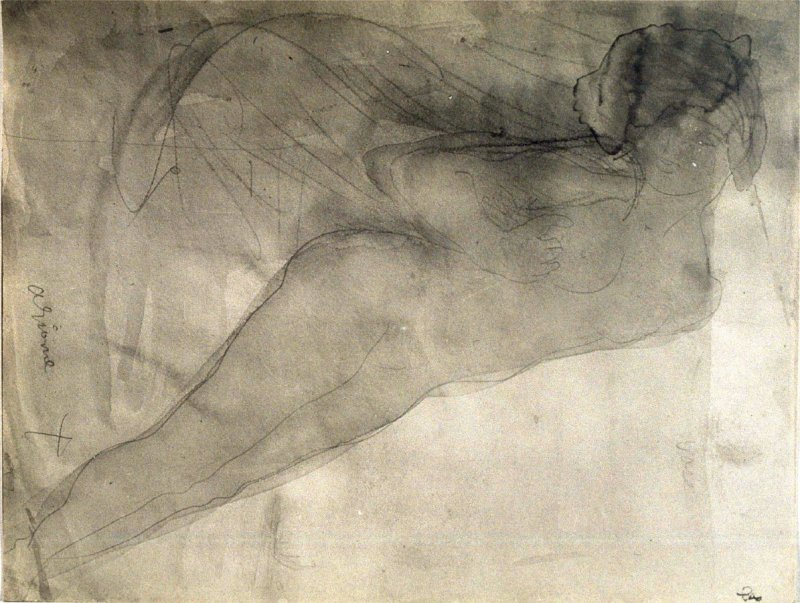 Untitled (Drawing of Reclining Female Nude)