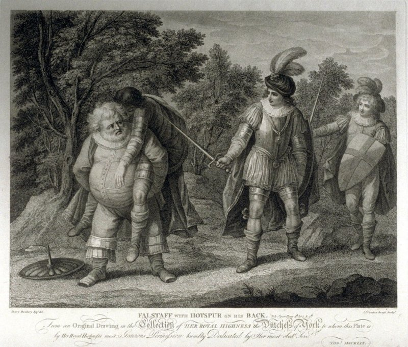Falstaff with Hotspur on his back - Shakespeare - Henry VI, Part 1, Act V, Scene VI