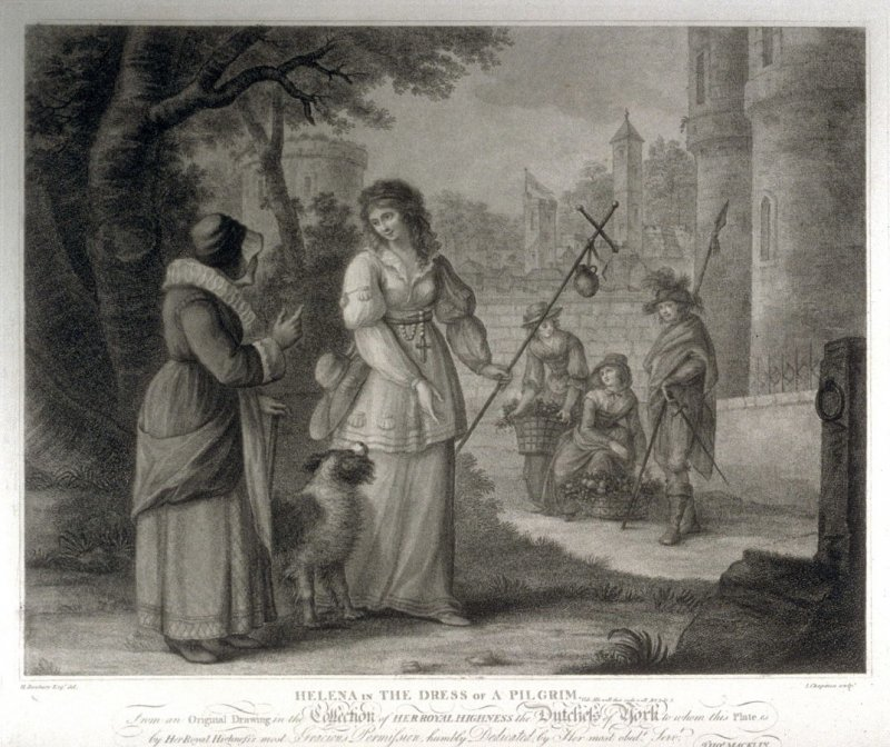 Helena in the dress of a pilgrim - Shakespeare- All's Well That Ends well Act III, Scene V.