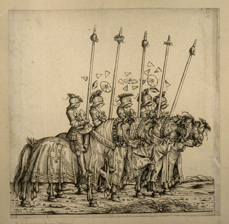 Scheibenrennen. From: The Triumph of Maximilian I