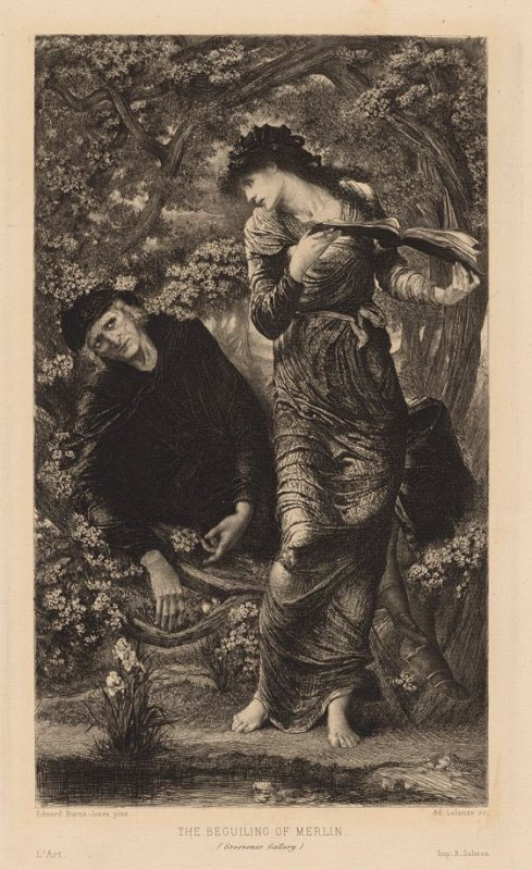 The Beguiling of Merlin, illustration to vol. X of 'L'Art' (1877)
