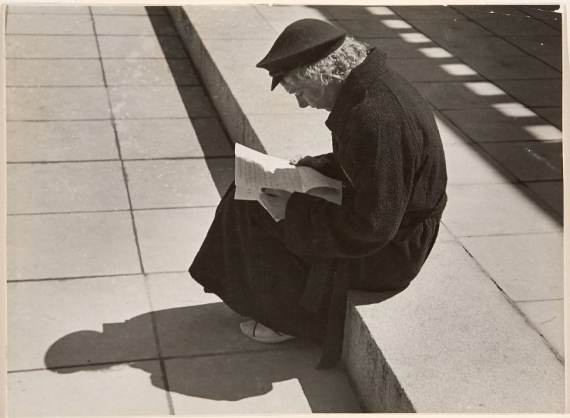 Untitled (Woman Reading on Stairs)