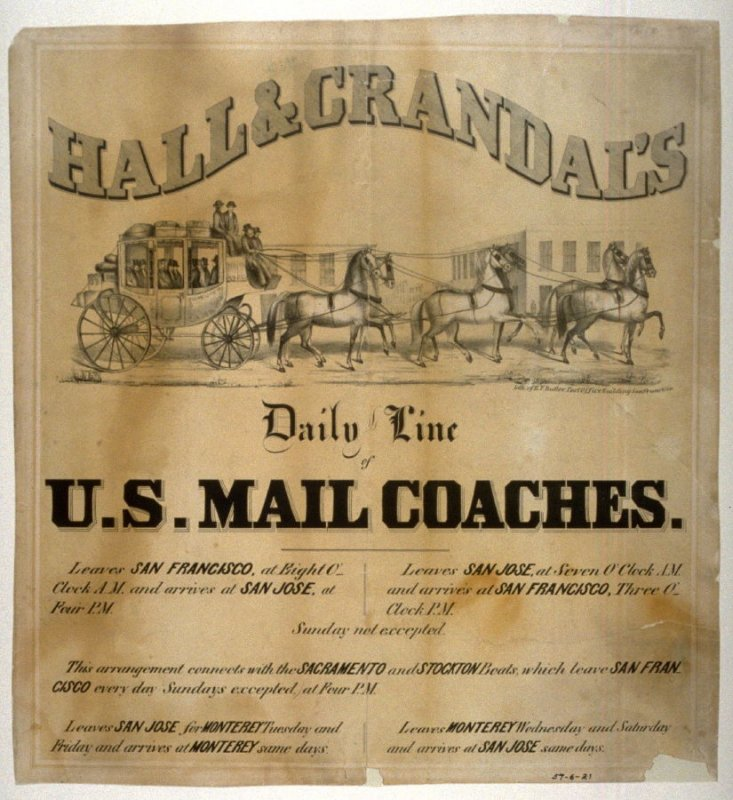 Hall & Crandal's Daily Line U.S.Mail Coaches