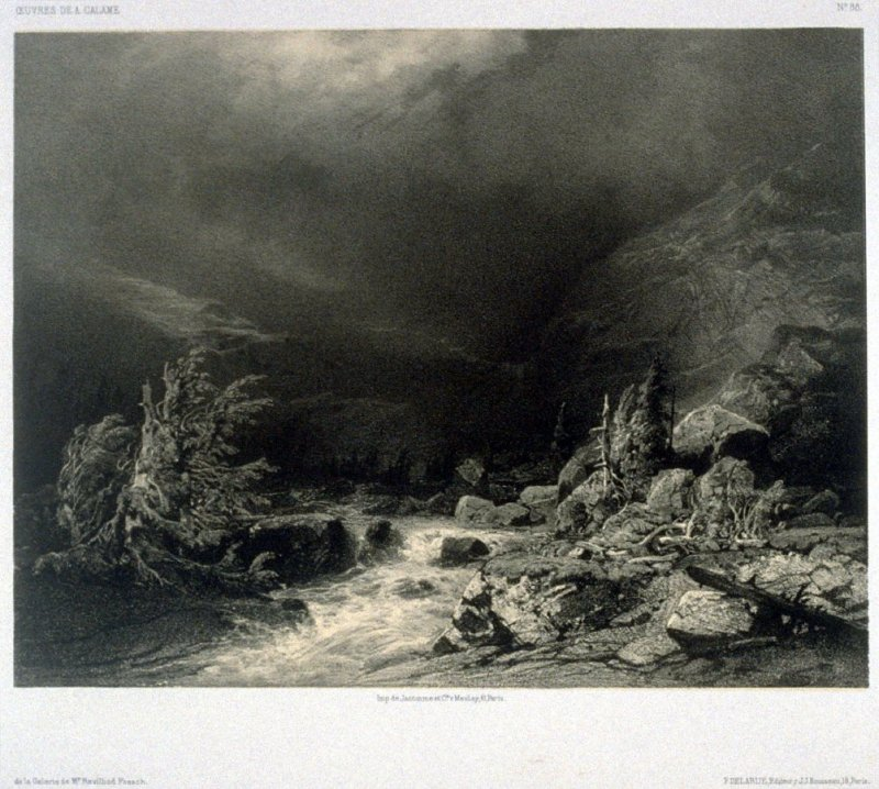 #88, from Fifty lithographs from Oeuvres de A. Calame