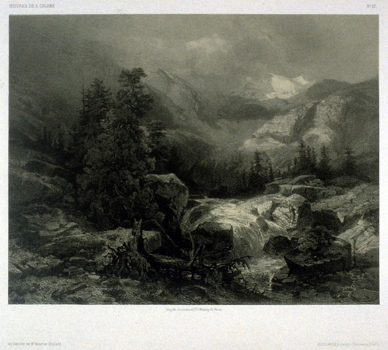 #87, from Fifty lithographs from Oeuvres de A. Calame
