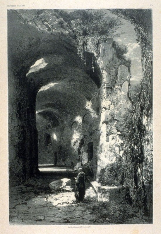 One of Fifty lithographs from Oeuvres de A. Calame