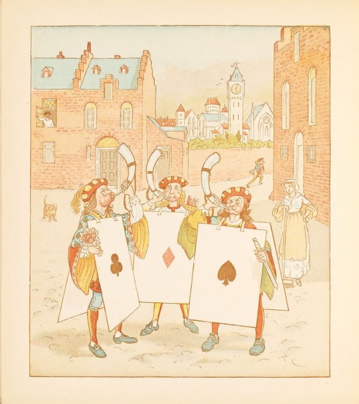 Illustration on page 14 in the book The Queen of Hearts (London: George Routledge & Sons, ca. 1885- 1900)