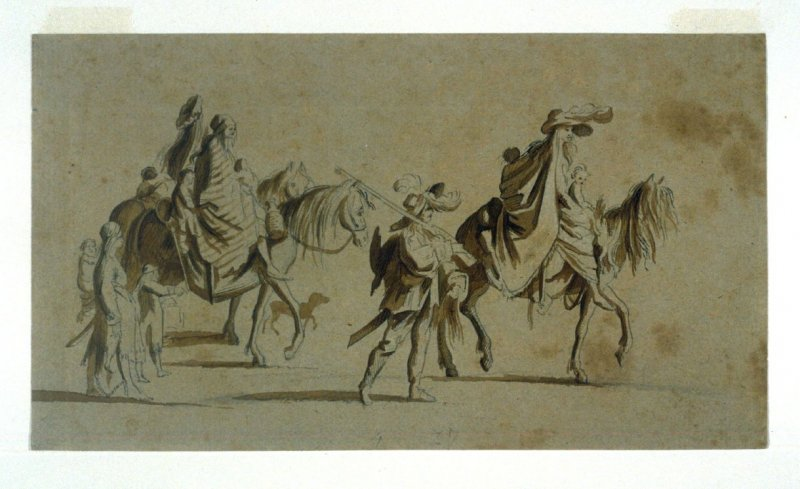 Les Bohemiens (Procession) (recto and verso)
