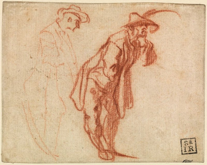 Two Studies of a Standing Man