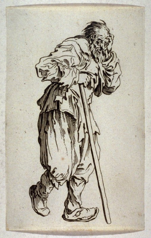 """Le Lueux Appuye sur son Baton, plate 19 from """"The Beggars"""""""
