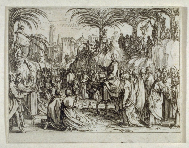 Christ's triumphant entry into Jerusalem, from The New Testament