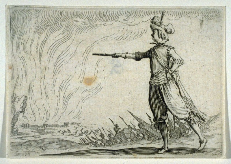 """Le Commandant a Pied, plate 39 from """"Les Caprices"""""""