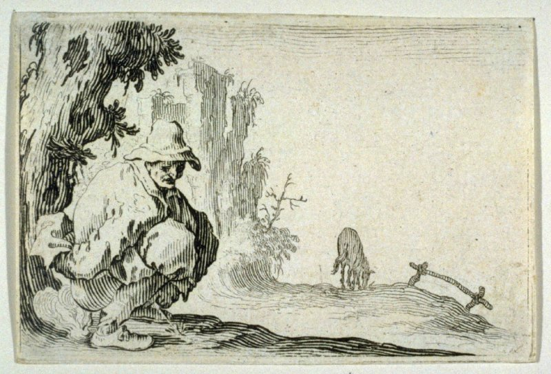 """Le Paysan Accroupi, plate 31 from """"Les Caprices"""""""