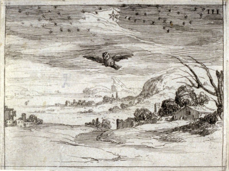 Dawn, plate 4 from Life of the Virgin in Symbols