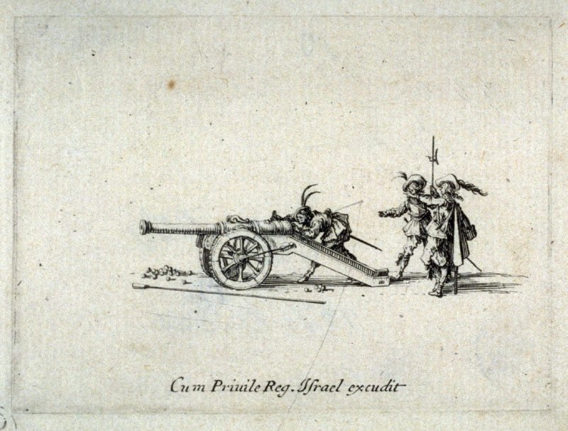 L'exercice du canon - le pointage. from Les Exercises Militaires