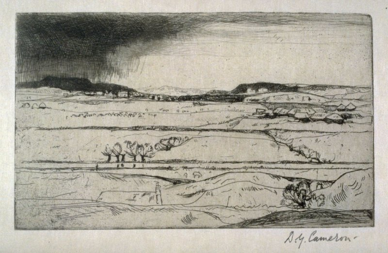 Near Droxford from the Set of Twenty Etchings, illustrations for Compleat Angler by Isaac Walton, London 1902.