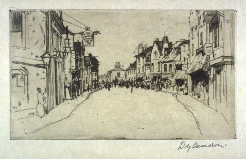 Ware, England from the Set of Twenty Etchings, illustrations for Compleat Angler by Isaac Walton, London 1902.
