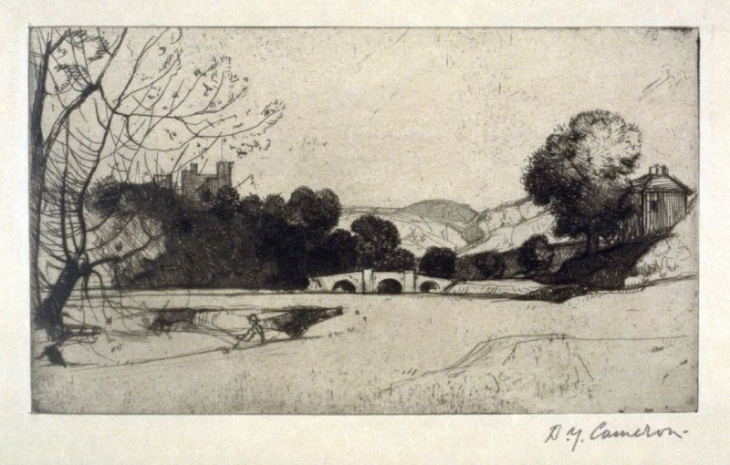 On the Wye at Haddon from the Set of Twenty Etchings, illustrations for Compleat Angler by Isaac Walton, London 1902.