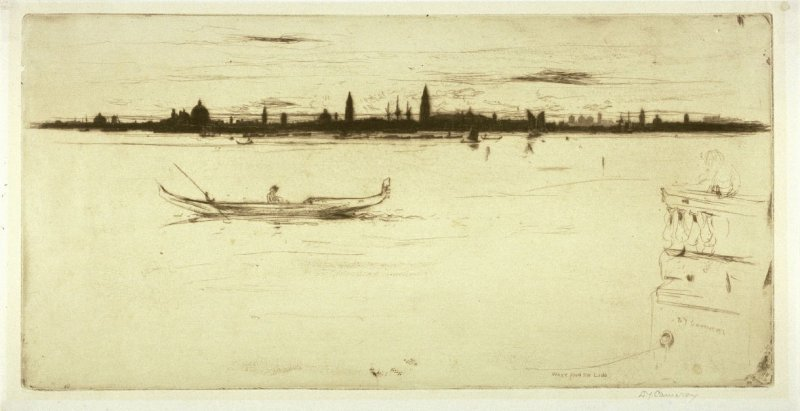 Venice from the Lido, pl. 17 from the portfolio Set of Etchings in North Italy