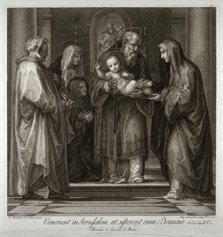 Presentation in the Temple, after a painting by Fra Bartolomeo for S. Marco, Florence, for the series Schola Italica Pictorae...