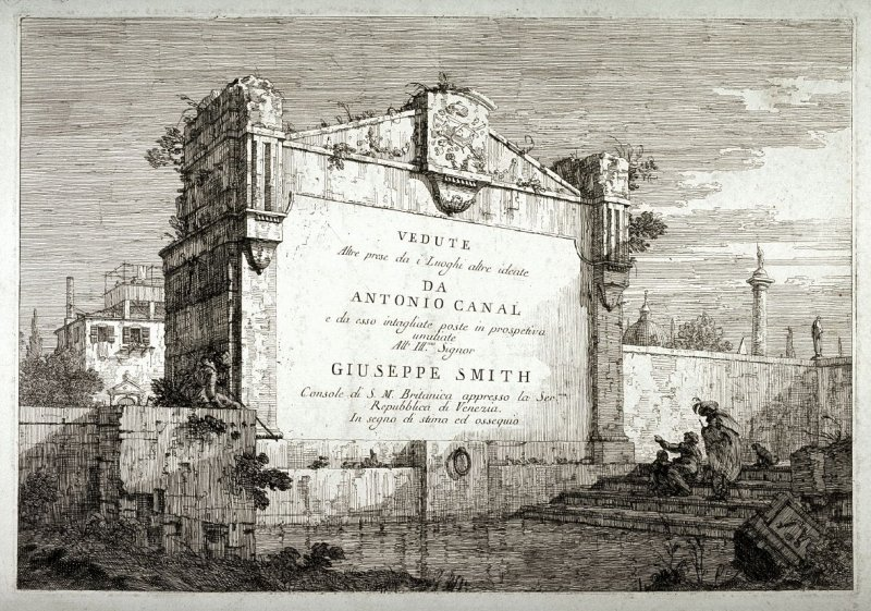 Title plate from the series Vedute
