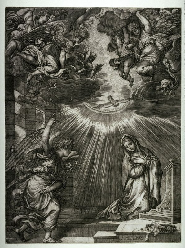 The Annunciation, after the lost painting by Titian
