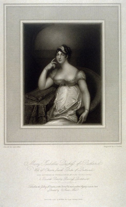 Mary Isabella, Duchess of Rutland, illustration to Mee's 'Gallery of Beauties of the Court of George III' (1812)