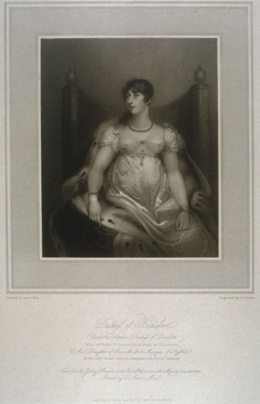 Duchess of Beaufort, illustration to Mee's 'Gallery of Beauties of the Court of George III' (1812)