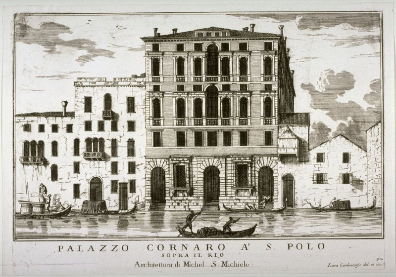 Palazzo Cornaro a' S. Polo, pl. 92 from the series Le fabriche e vedute di Venetia... (Buildings and Views of Venice)