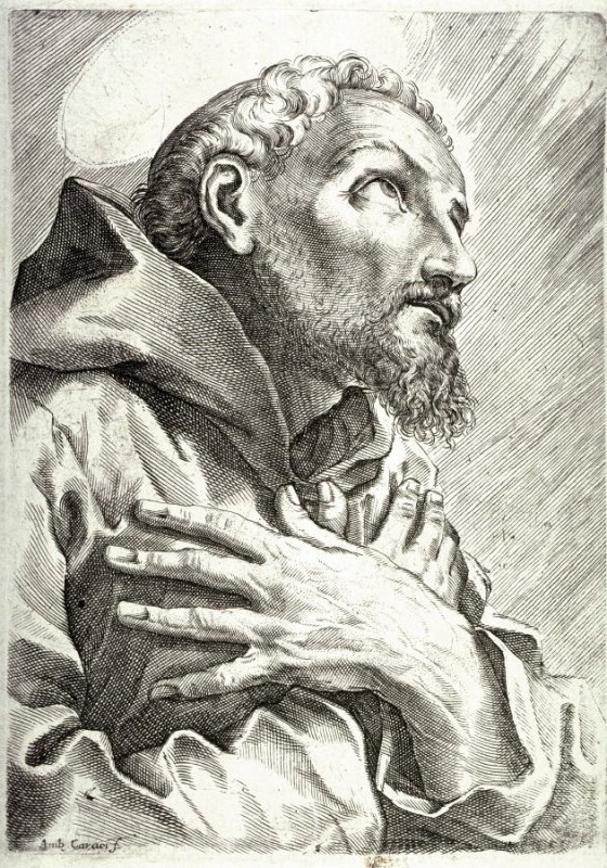 St. Francis in Prayer, from the book Scuola Perfecta