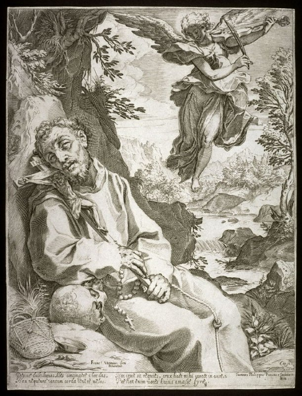 St. Francis Consoled by a Musical Angel