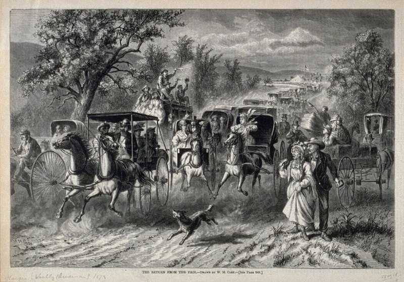 The Return from the Fair - Harper's Weekly (25 October 1873)