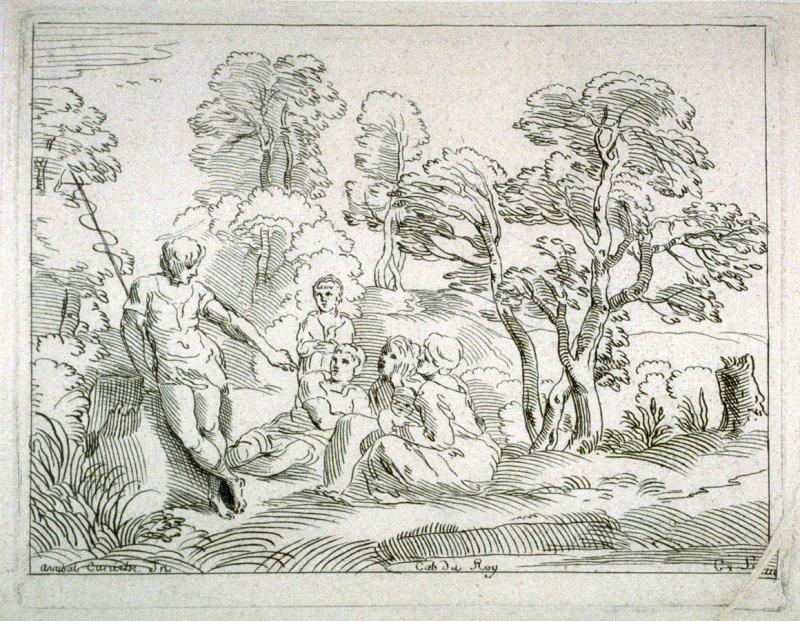 Saint John Preaching in a Landscape, from the Cabinet du Roi