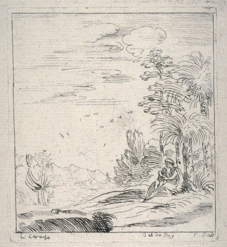 Rest on the Flight into Egypt, from the Cabinet du Roi
