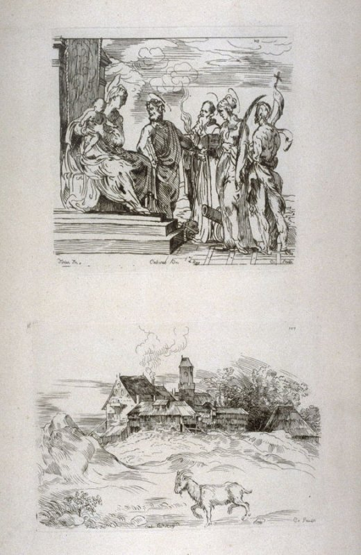 Virgin and Child with Saints, and Landscape with a Goat, from the Cabinet du Roi