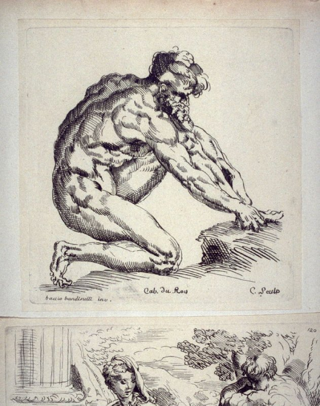 Kneeling Male Nude, from the Cabinet du Roi