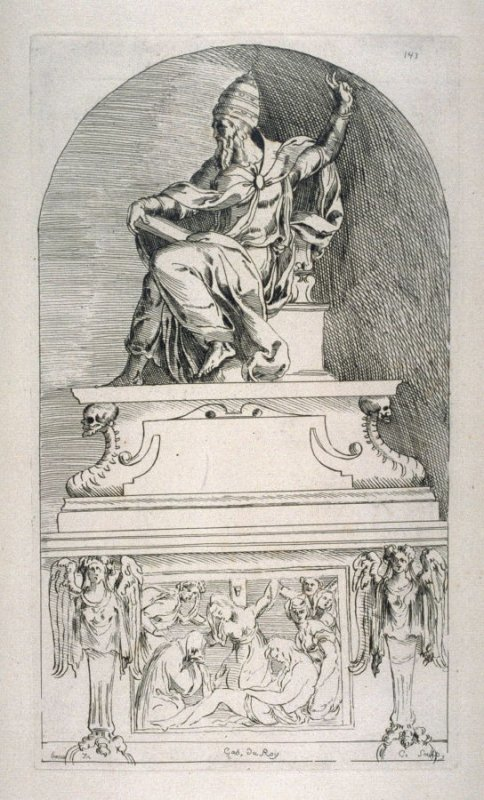 A Pope's Tomb, from the Cabinet du Roi