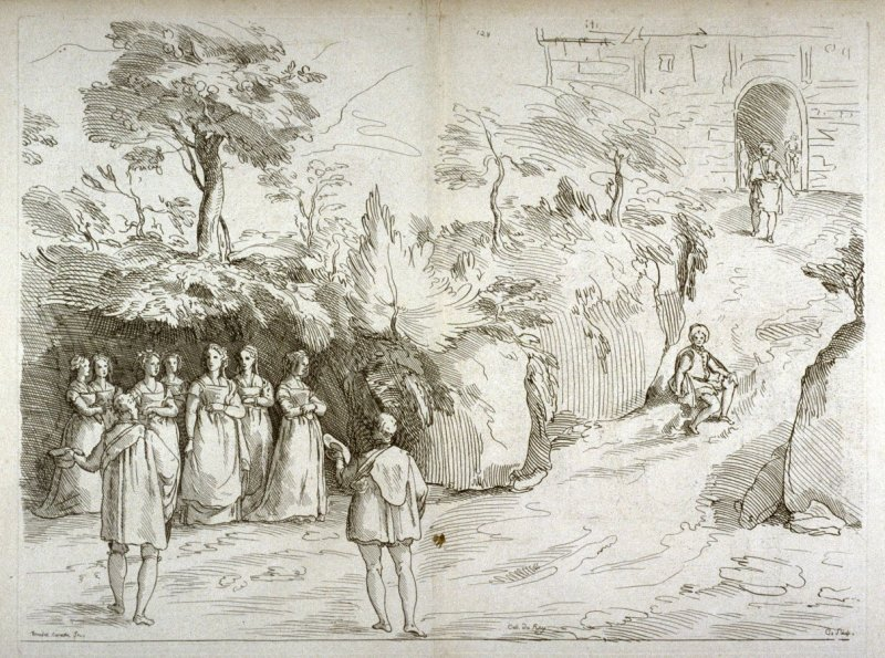 Arrival of the Wedding Party, no. 128 from the Cabinet du Roi