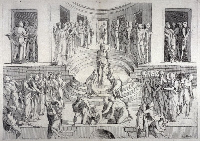 Study for the Death of Ananias, from the Cabinet du Roi