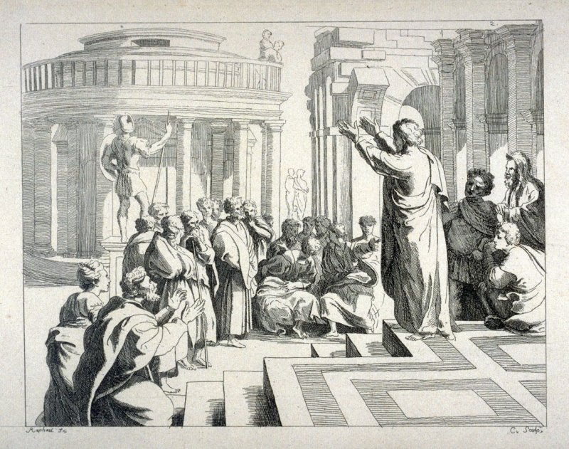 Saint Paul Preaching, no. 2 from the Cabinet du Roi