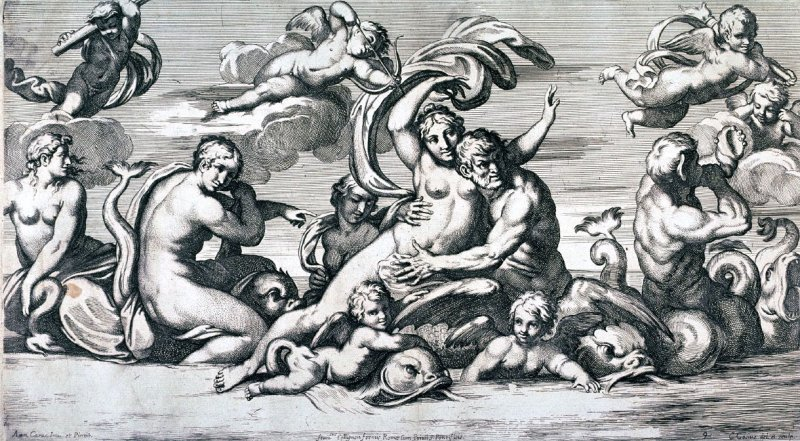 The Triumph of Galatea, pl.9 from the series Galeria Nel Palazzo Farnese in Roma...da Annibale Carracci, after Annibale Carracci