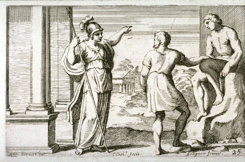 Minerva Teaching Prometheus to Animate the Statue, from the Farnese Gallery Panels after Annibale Carracci