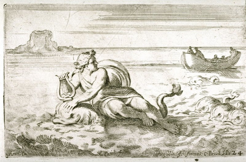 Arion Carried to Safety on a Dolphin, from the Farnese Gallery Panels after Annibale Carracci