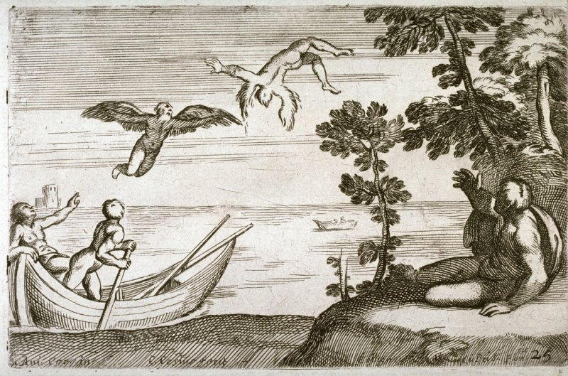 The Fall of Icarus, from the Farnese Gallery Panels after Annibale Carracci