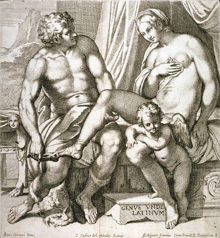 The Lovers Venus and Anchises, pl. I from the series The Farnese Gallery